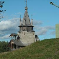Повенец. Церковь Николая Чудотворца и пушка, Повенец