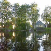 Вид с озера на берег, Пряжа
