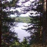 Вид с горки любви на озеро, Пряжа