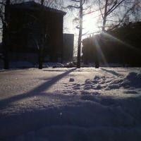 Зимнее солнце у часовни, Белово