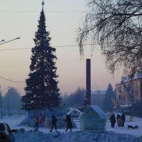 утром у ёлки на площади Белово, Белово