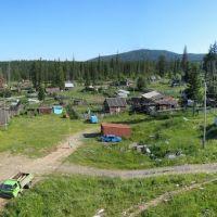 Белогорск, слева вдоль гаражей дорога ведущая из посёлка, Белогорск
