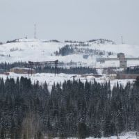 Вид на Кия-Шалтырский нефелиновый рудник, Белогорск