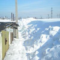Гаражи зимой, Березовский