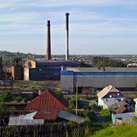 [авг13 ф-89] завод со стороны кряжа, Гурьевск