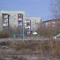 Гурьевск 056 вид со двора д.15 на другие многоэтажки, Гурьевск