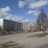 весенняя уборка возле училища г.Гурьевск, Гурьевск