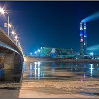ГРЭС & Кузнецкий мост (ночной вид), Кемерово