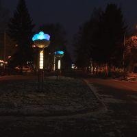 ул.Весенняя: аллея с цветными фонарями; 09.11.2011, Кемерово
