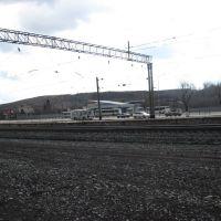 Автовокзал на фоне отвалов, Киселевск