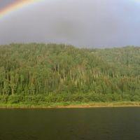 Зеленогорск. Радуга над Томью., Крапивинский