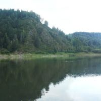 Томь в районе створа, Крапивинский