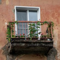 """Балкон на """"сталинке"""" / The Balcony, Ленинск-Кузнецкий"""