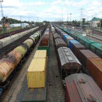 С пешеходного моста, Мариинск