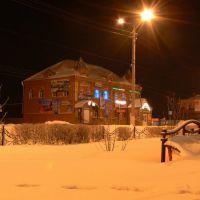 Скамейка с покрывалом, Мариинск
