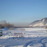 р.Уса зимой, Междуреченск
