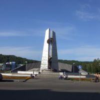 Стелла памяти погибшим шахтёрам, Междуреченск