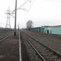 О.п. Междуреченск-Город, Вид в сторону ст. Междуреченск, Междуреченск