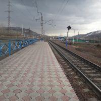 О.п. Городская, Вид в сторону ст. Карай, Междуреченск