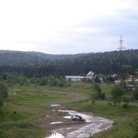 Вид с моста, Мыски