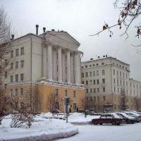 Novokuznetsk / Новокузнецк Городская клиническая больница №1 (Терапевтический корпус) построен в 1957 г., Новокузнецк