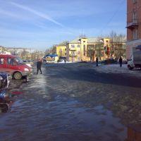 улица Гагарина в сторону улицы Кирова, Осинники