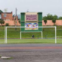 На стадионе «Шахтёр», июль 2014, Прокопьевск