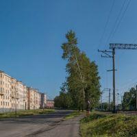 Пр-кт Шахтёров, подъём к перекрёстку с ул. Комсомольской, июнь 2013, Прокопьевск