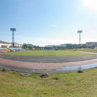Стадион «Шахтёр», вид в сторону пр-кта Шахтёров, июнь 2013, Прокопьевск