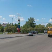 Перекрёсток пр-кта Шахтёров и ул. Проспектной, июнь 2013, Прокопьевск