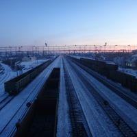 Станция Промышленная, Вид в сторону Белово, Промышленная