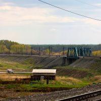 Вид на перегон Промышленная - Егозово, Промышленная