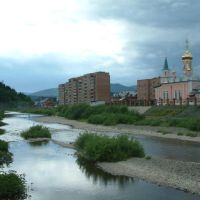 View to Church., Таштагол