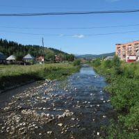 Shalym River near Makarenko street, Таштагол