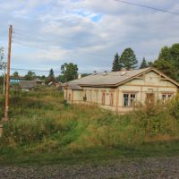 3786-й км Транссиба. Бывший вокзал на станции Тисуль, Тяжинский