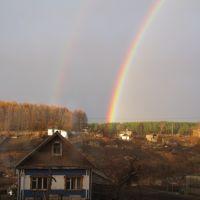 Вечерняя радуга над огородами, Яшкино
