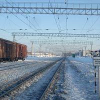 Станция Яшкино, Вид на восток, Яшкино