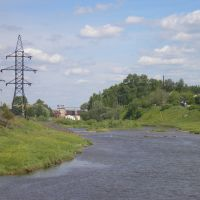 Река Белая Холуница: участок между плотиной и переходами, Белая Холуница