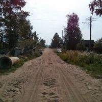 Одна из деревеньских улиц в Белой Холунице, Белая Холуница