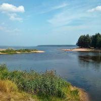 Шелепиха впадает в водохранилище, Белая Холуница