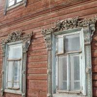 Наличники первого этажа, дом 61, Киров