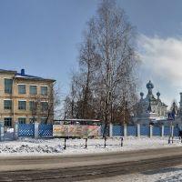 Кирсинская школа и Покровская церковь, Кирс