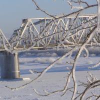 зимний вид на мост через Вятку, Котельнич