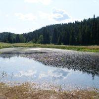 Водоём, образовавшийся в результате весенних разливов Вятки, Нагорск