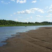 Пляж на реке Вятка, Нагорск