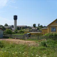 Вид на водонапорную башню на ул. Полевой, Нагорск