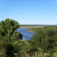 Вид с ул. Нагорной на р. Вятка, Нагорск