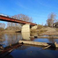Пеший мост у д. Чащино, Нолинск