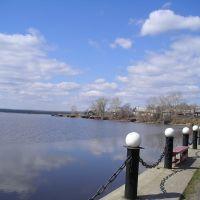 Вид с набережной пруда, Омутнинск
