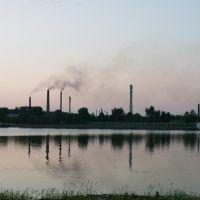 вид на Омутнинский металлургический завод, Омутнинск